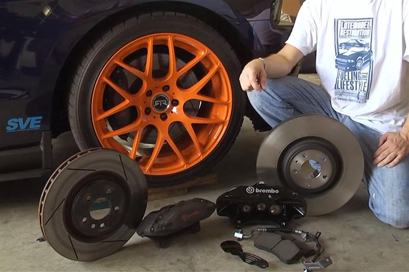 Mustang Gt Six Piston Brembo Brake Install M T on 1994 Ford Lightning