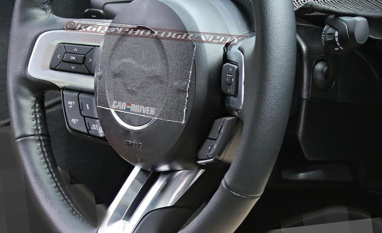2015 Mustang Interior Spy Shots - 2015 Mustang Steering Wheel